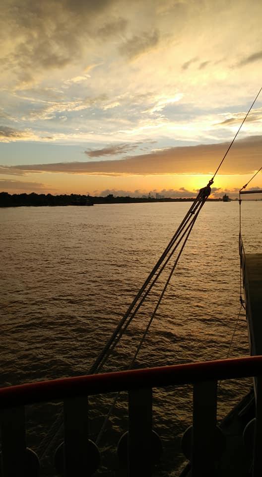Steamboat sunset