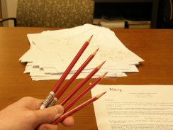 red pencils for grading