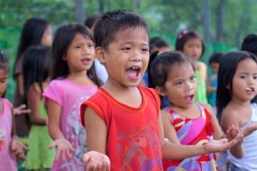 child singing